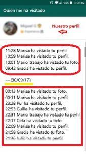 Visitas mi perfil Mirador Whatsapp