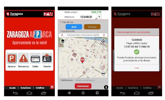 Aplicaciones para aparcar el coche