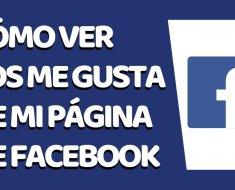 ¿Cómo ver a quien da like en Facebook?