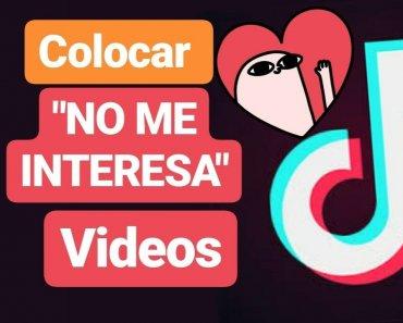 """No me interesa"""" en un video de Tik Tok"""