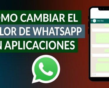 ¿Cómo cambiar el color de los mensajes de WhatsApp sin app